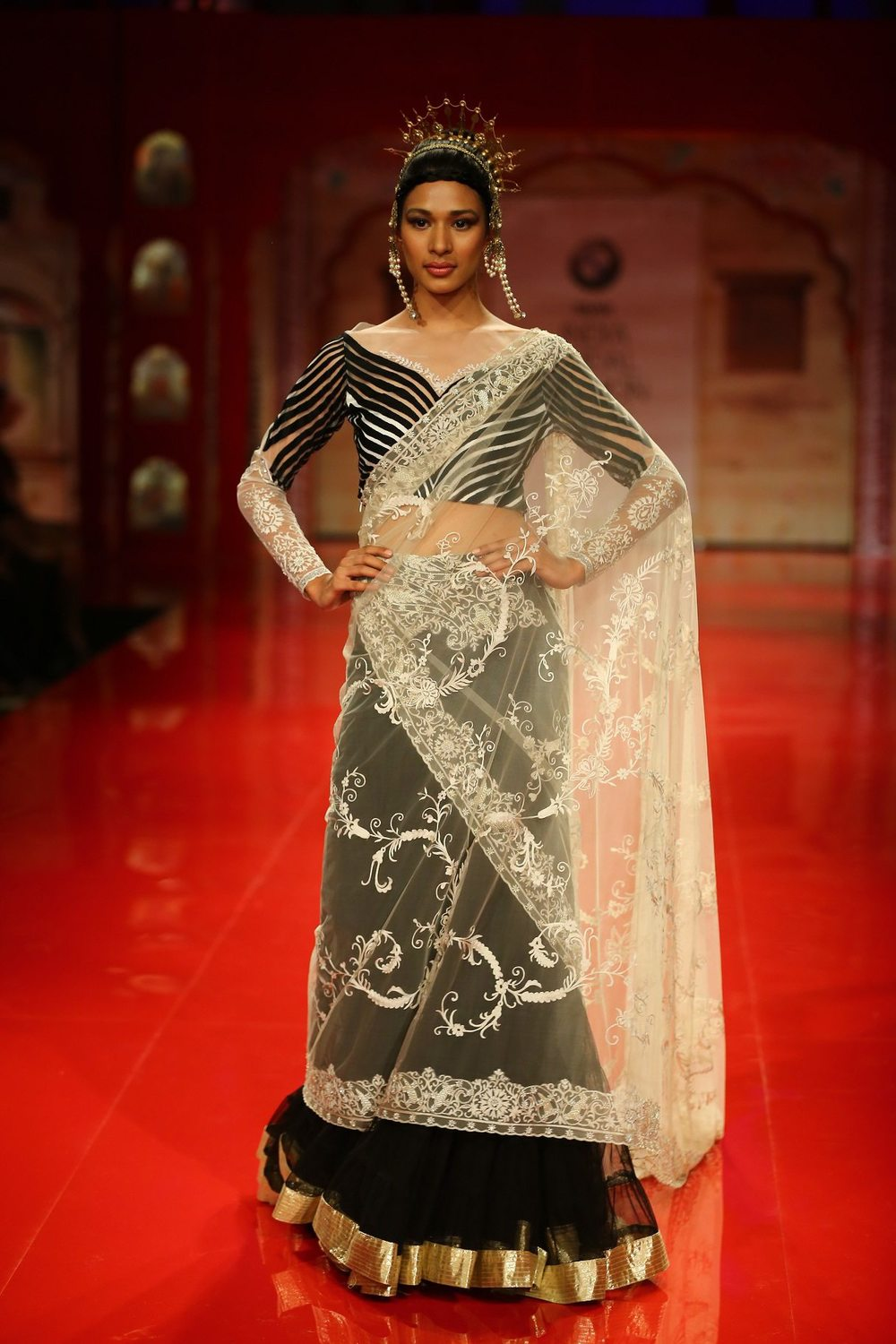 Seen at BMW India Bridal Fashion Week 2014 in association with AZVA at Suneet Varma's show at DLF Emporio (3).jpg