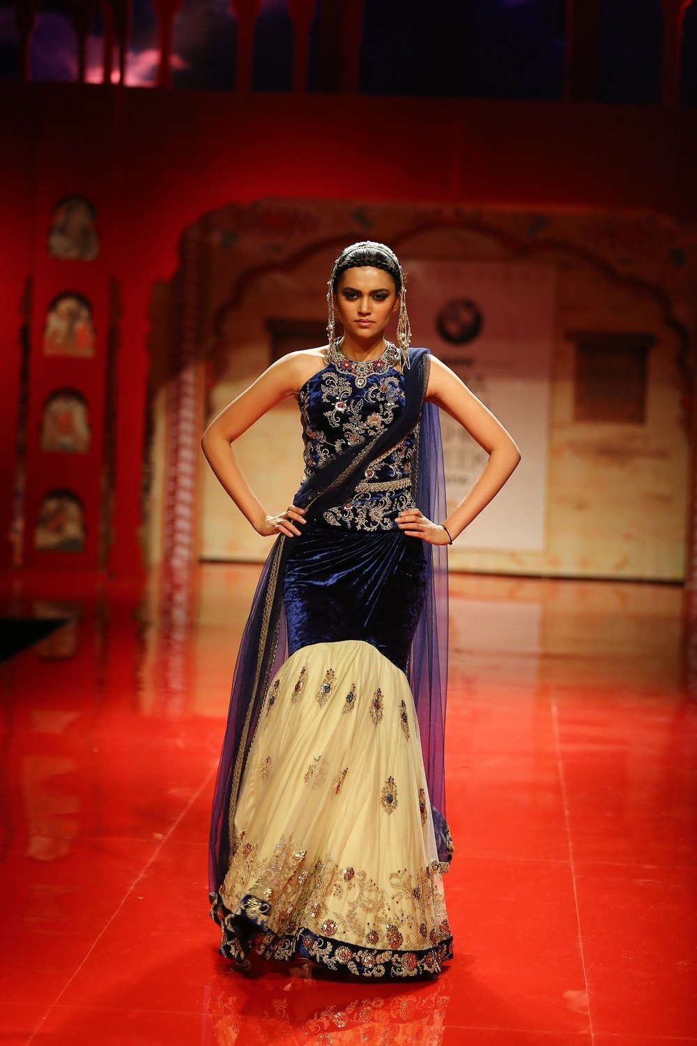 Seen at BMW India Bridal Fashion Week 2014 in association with AZVA at Suneet Varma's show at DLF Emporio (4).jpg