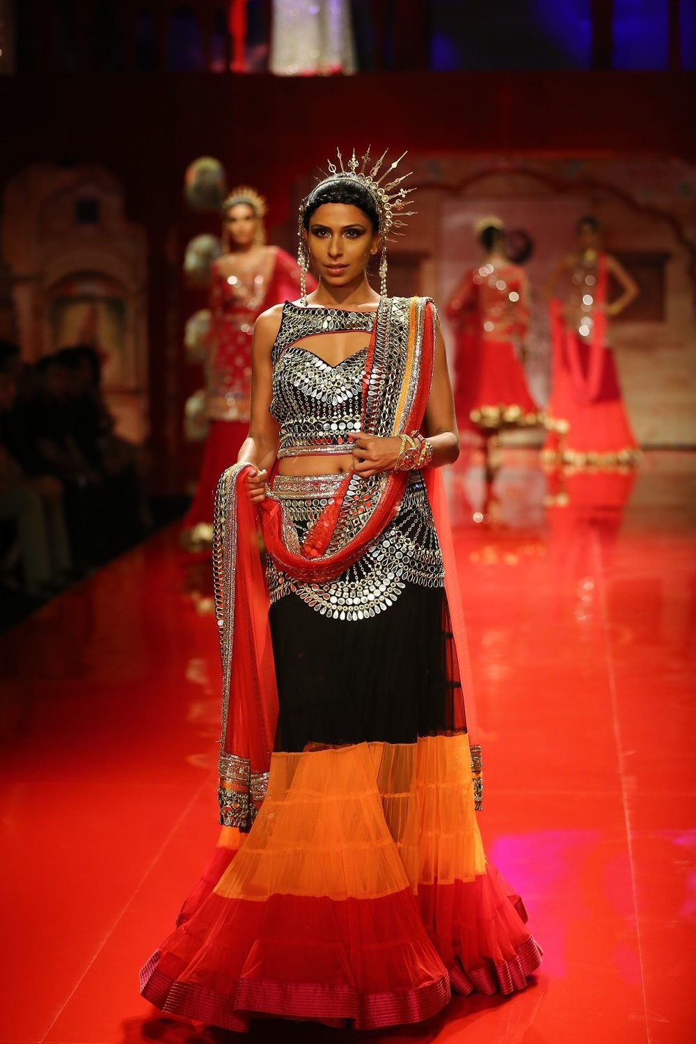 Seen at BMW India Bridal Fashion Week 2014 in association with AZVA at Suneet Varma's show at DLF Emporio (11).jpg