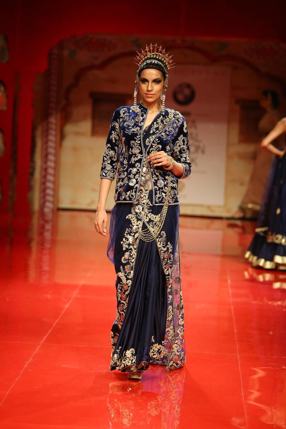 Seen at BMW India Bridal Fashion Week 2014 in association with AZVA at Suneet Varma's show at DLF Emporio (5).jpg