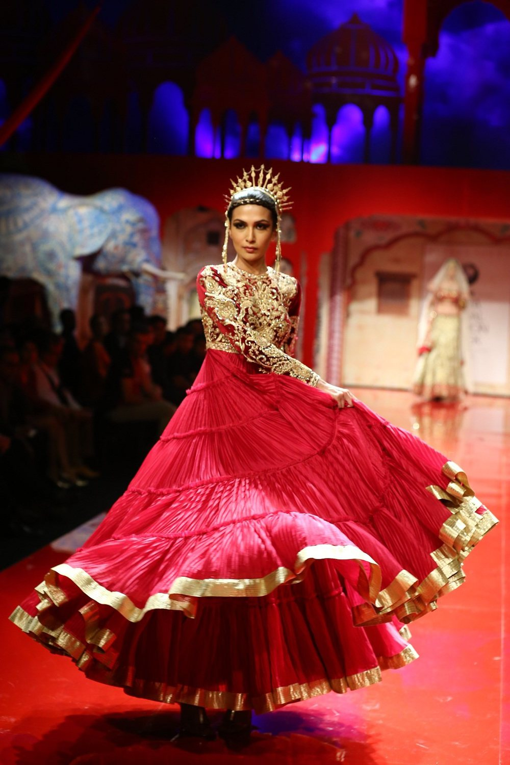Seen at BMW India Bridal Fashion Week 2014 in association with AZVA at Suneet Varma's show at DLF Emporio (16).jpg