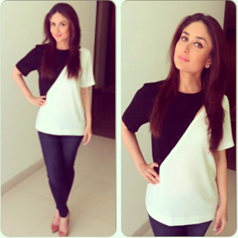 Kareena Kapoor in J Brand and Joseph