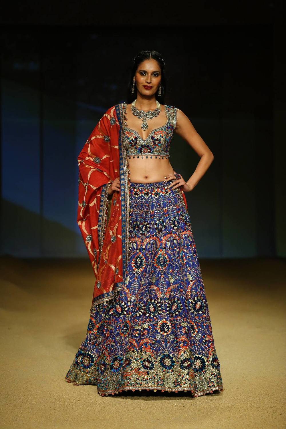Seen at BMW India Bridal Fahsion Week 2014 in association with AZVA at  Ashima Leena's  show at DLF Emporio (42).jpg
