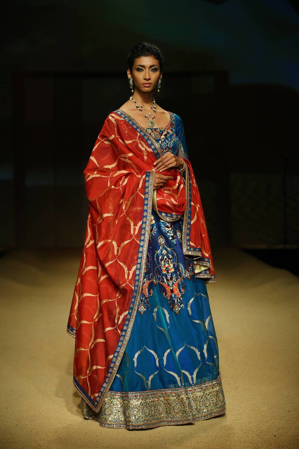 Seen at BMW India Bridal Fahsion Week 2014 in association with AZVA at  Ashima Leena's  show at DLF Emporio (41).jpg