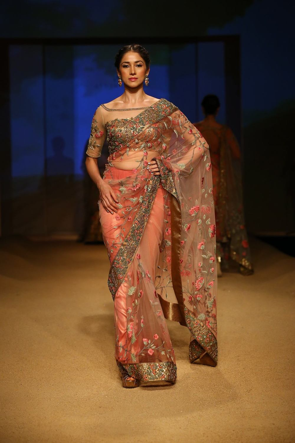 Seen at BMW India Bridal Fahsion Week 2014 in association with AZVA at  Ashima Leena's  show at DLF Emporio (29).jpg