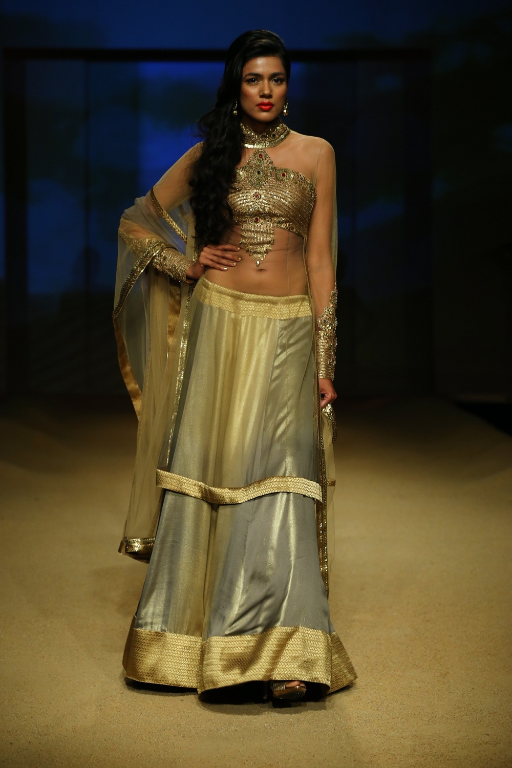 Seen at BMW India Bridal Fahsion Week 2014 in association with AZVA at  Ashima Leena's  show at DLF Emporio (32).JPG