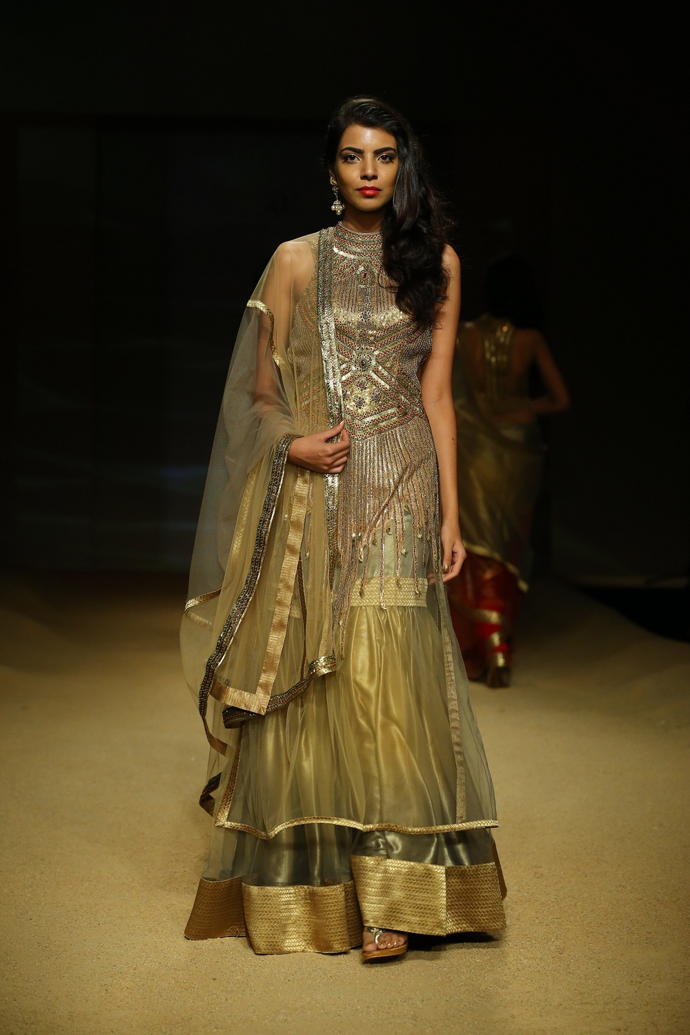 Seen at BMW India Bridal Fahsion Week 2014 in association with AZVA at  Ashima Leena's  show at DLF Emporio (33).JPG