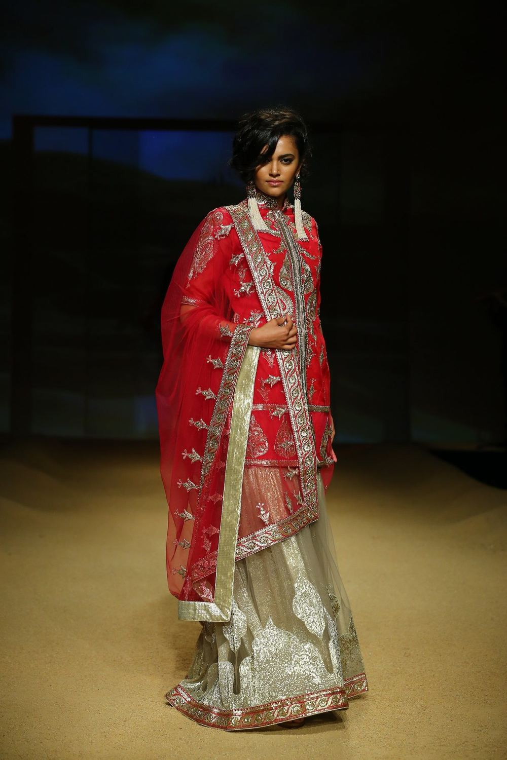 Seen at BMW India Bridal Fahsion Week 2014 in association with AZVA at  Ashima Leena's  show at DLF Emporio (34).jpg