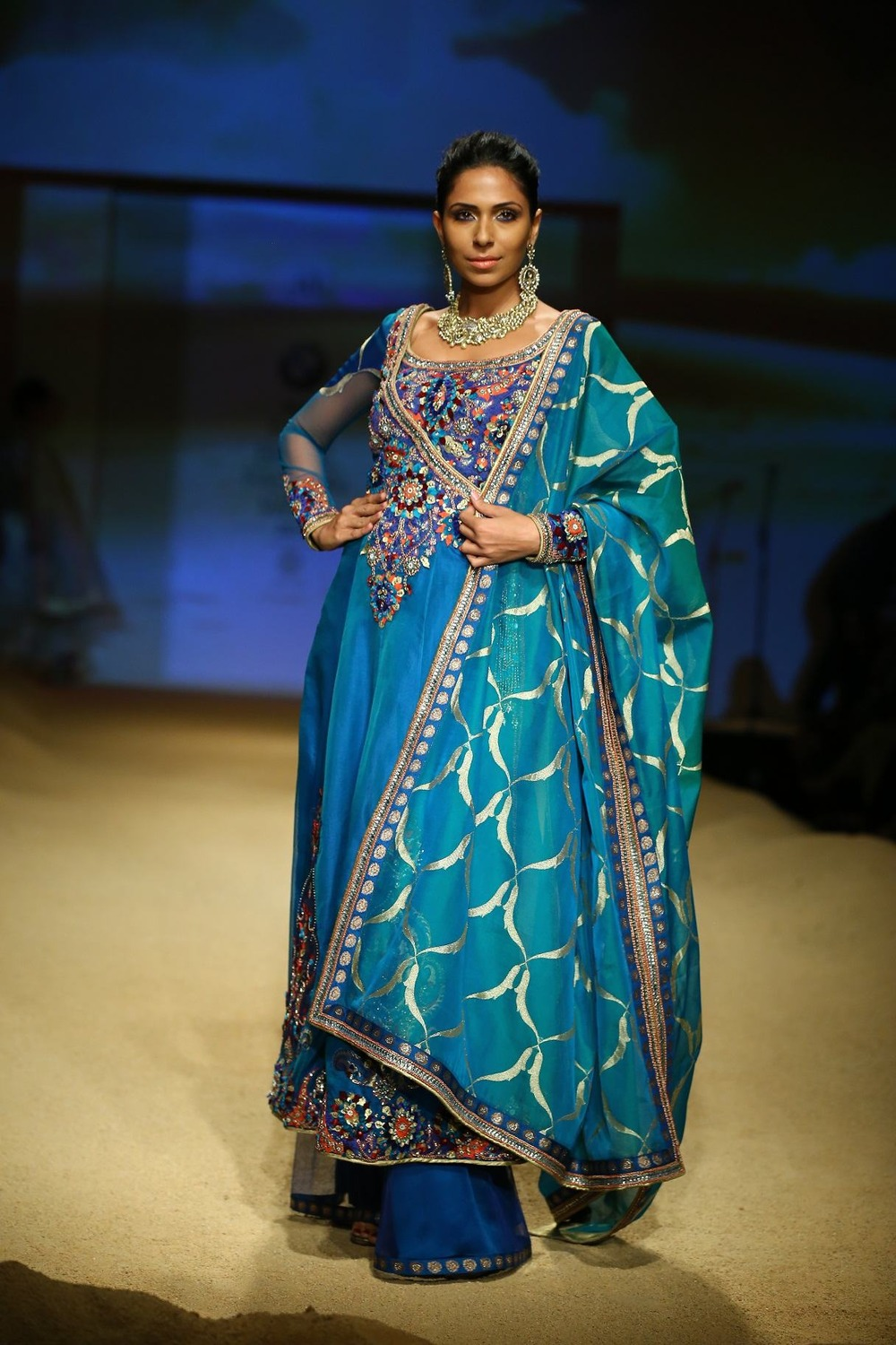Seen at BMW India Bridal Fahsion Week 2014 in association with AZVA at  Ashima Leena's  show at DLF Emporio (37).jpg