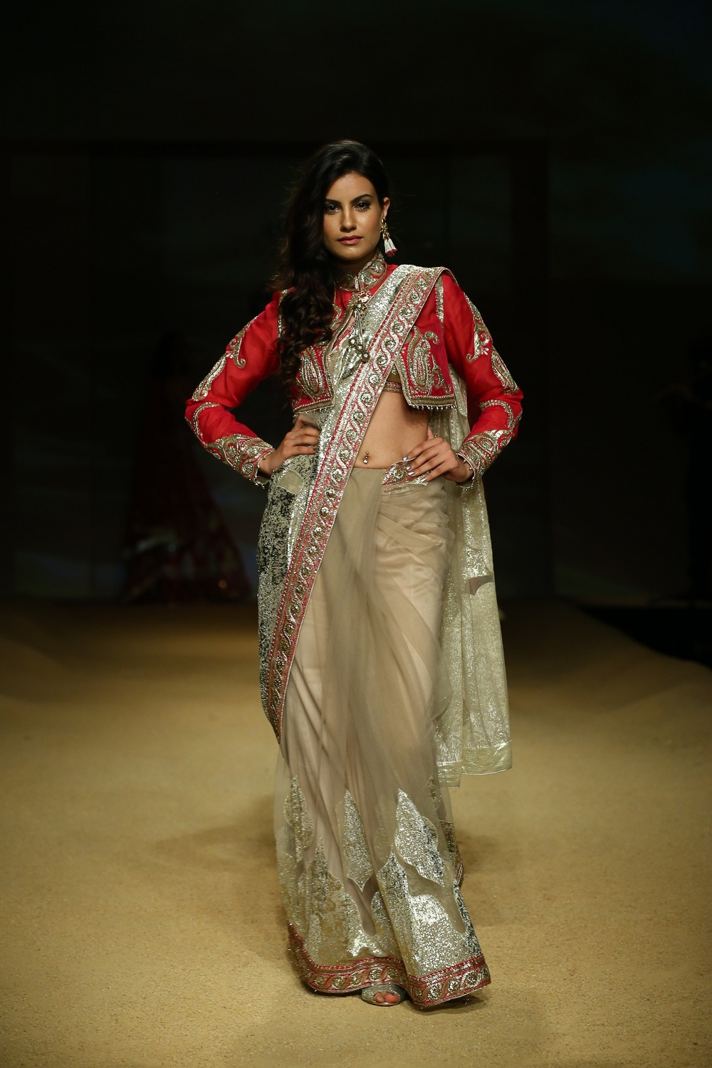 Seen at BMW India Bridal Fahsion Week 2014 in association with AZVA at  Ashima Leena's  show at DLF Emporio (35).JPG