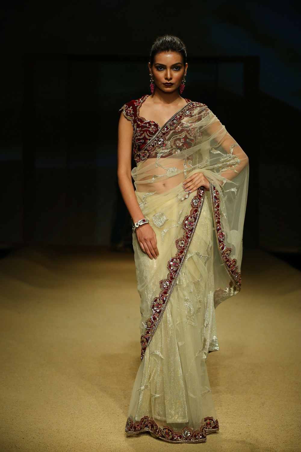 Seen at BMW India Bridal Fahsion Week 2014 in association with AZVA at  Ashima Leena's  show at DLF Emporio (39).JPG