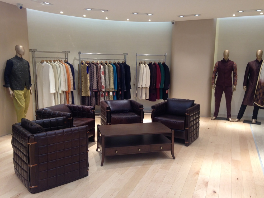 Men's section at Aza