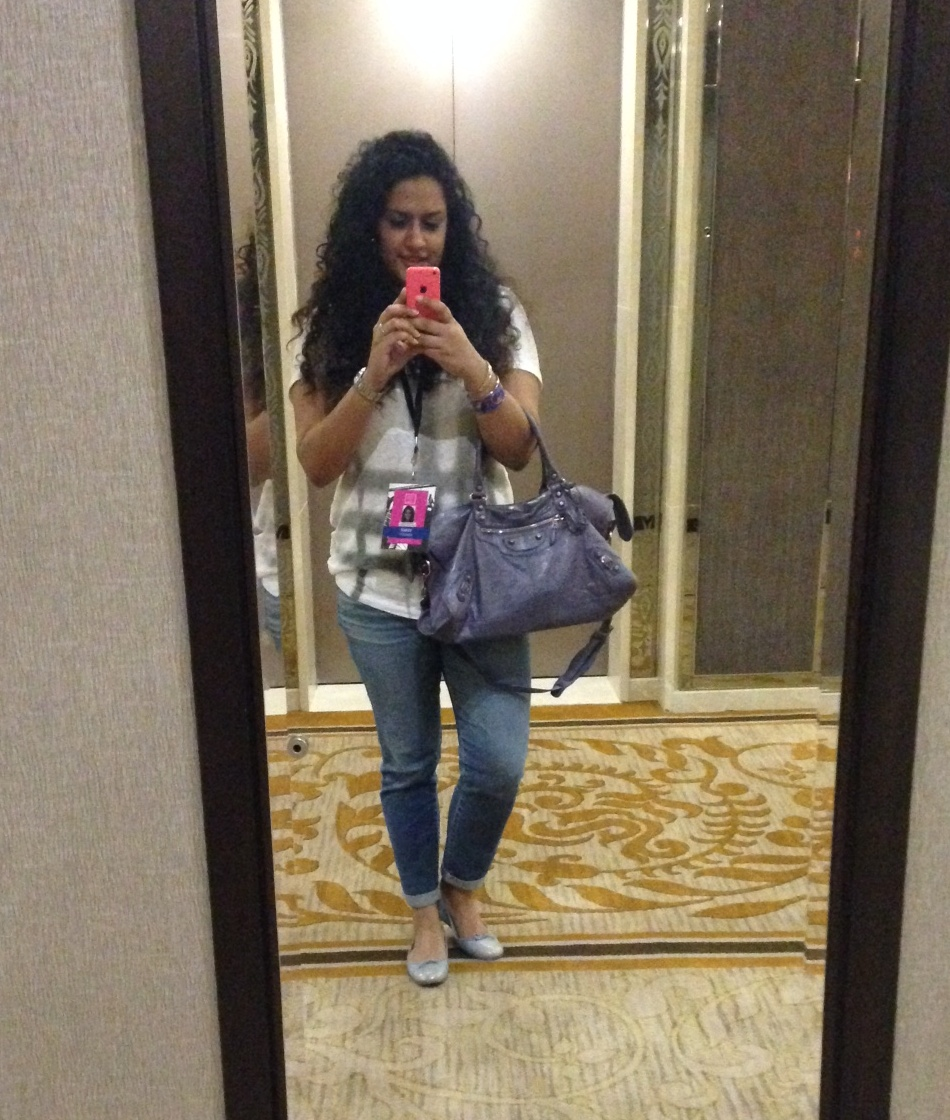 T-shirt - Burberry, Denims - AG Jeans, Bag - Balenciaga, Shoes - Chanel, Cuff - Hermes
