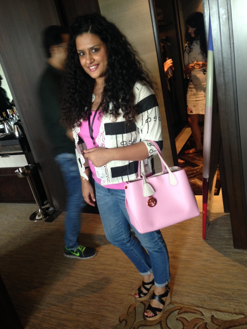 Jacket - Masaba Gupta, Tank - Ralph Lauren, Bag - Dior, Denims - AG Jeans, Shoes - Salvatore Ferragamo