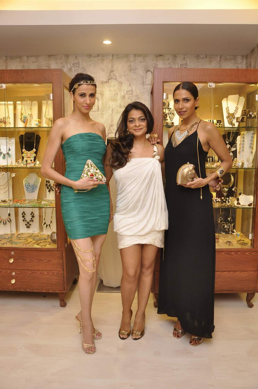 Bansri Mehta with Candice & Alesia wearing Jewels by Bansri