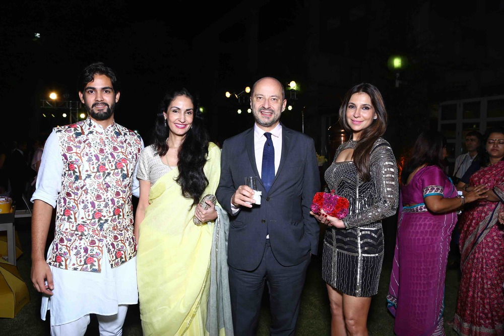 Arjan Duggal, Simar Duggal, The French Ambassador, François Richier and Tanisha Mohan