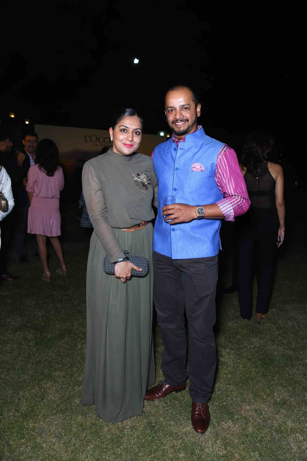 Murli Kartik with his wife Shweta Kartik