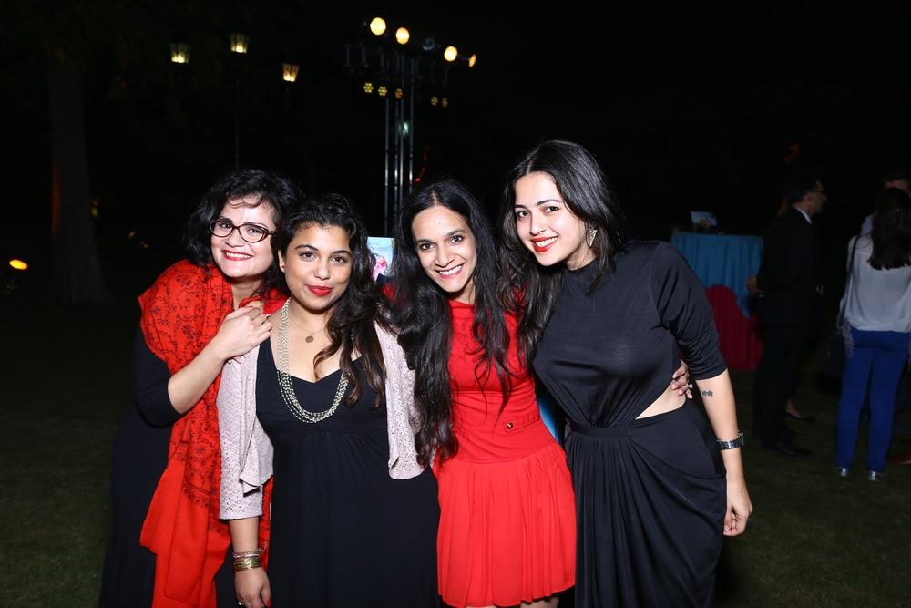 Vasudha Rai, Ami Unnikrishnan, meghna Malik and Samiya.jpg