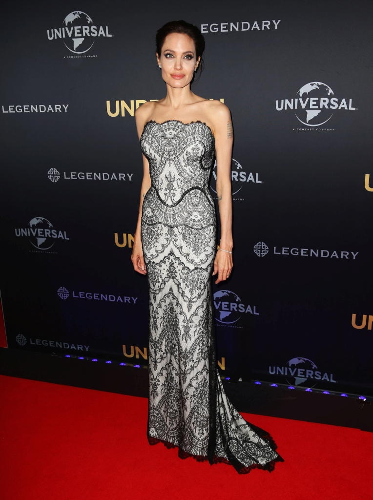 Angelina Jolie wearing Gucci Première