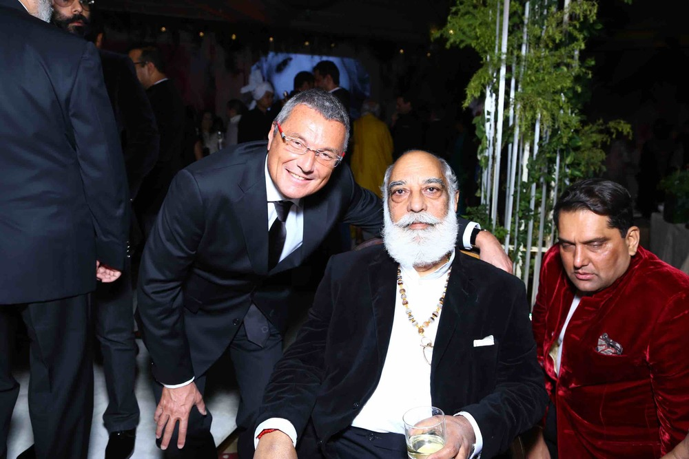 Jean Christophe Babin (CEO, Bulgari group) and Sriji Arvind Singh Mewar