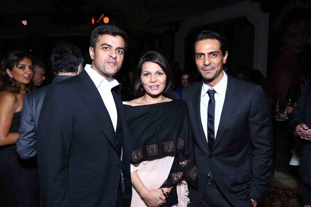 Raja Kanwar,Annie Kanwar and Arjun Rampal