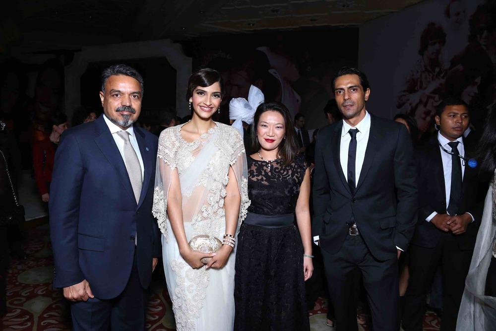Ravi Thakran, Sonam Kapoor, Wei Ling and Arjun Rampal
