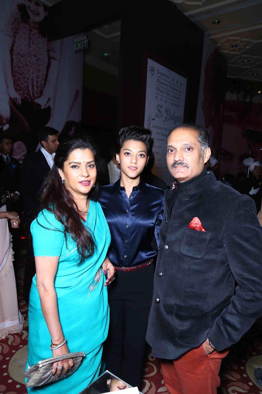 Yuvraj Vikramaditya Singh andChitrangada Singh with their Daughter