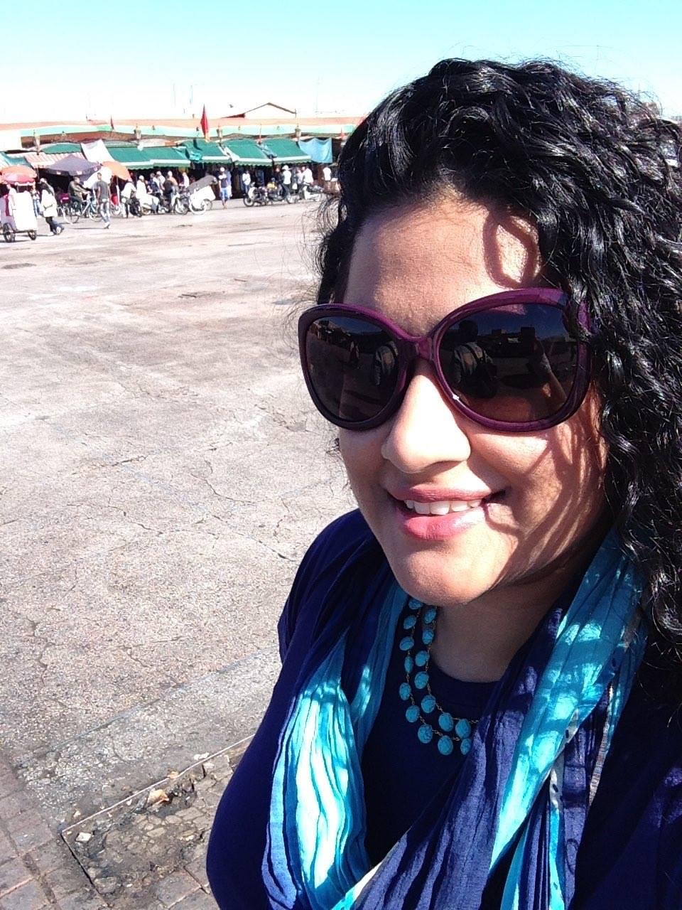 Neckpiece: Amrapali, Sunglasses: Dior