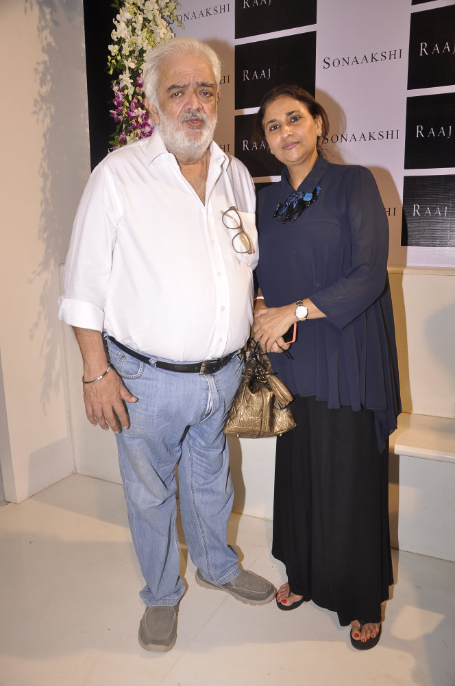 Rahul Rawail with wife