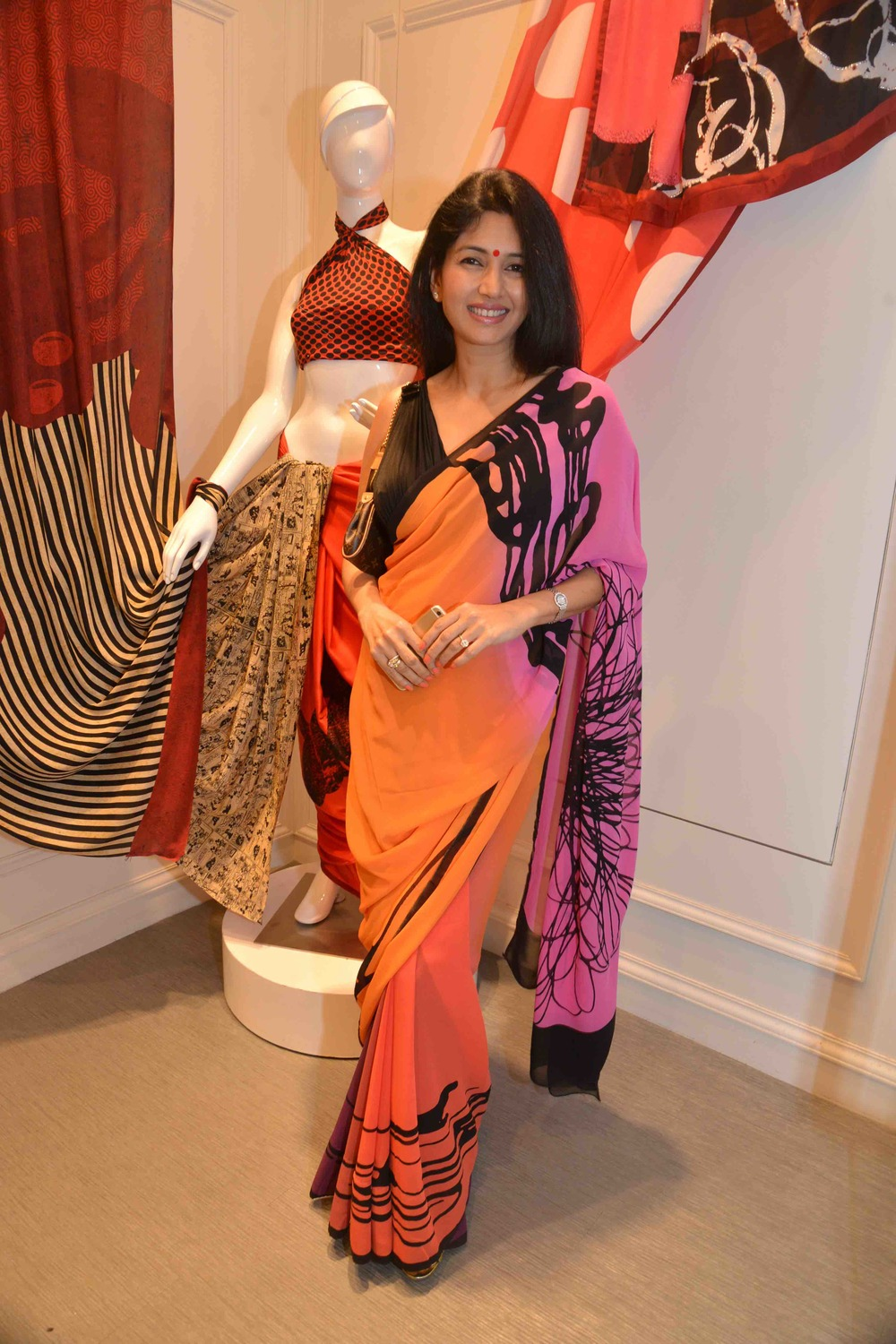 Deepti Bhatnagar in a Satya Paul Saree