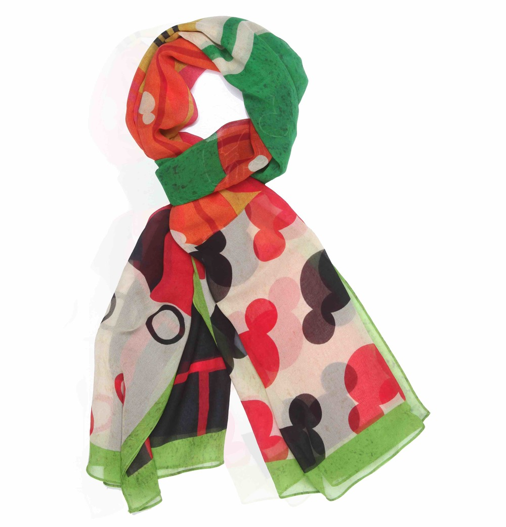 Disney Monopop by Satya Paul Mickey & Minnie Mouse patchwork Scarf