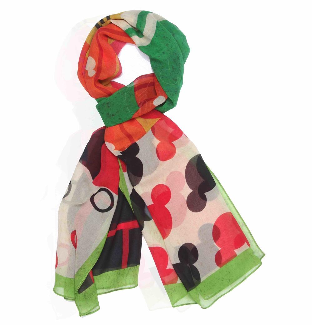 Disney Monopop by Satya Paul Mickey & Minnie Mouse patchwork Scarf