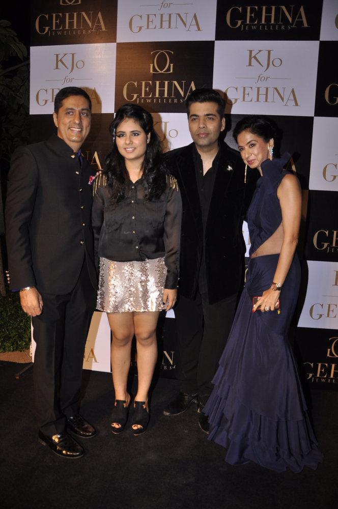 Sunil Datwani, Gehna Datwani, Karan Johar and Kiran Datwani