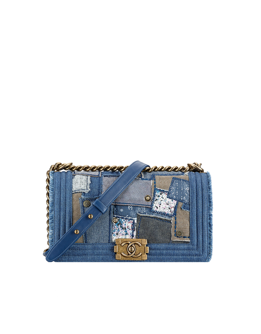 DENIM PATCHWORK CHANEL BOY BAG