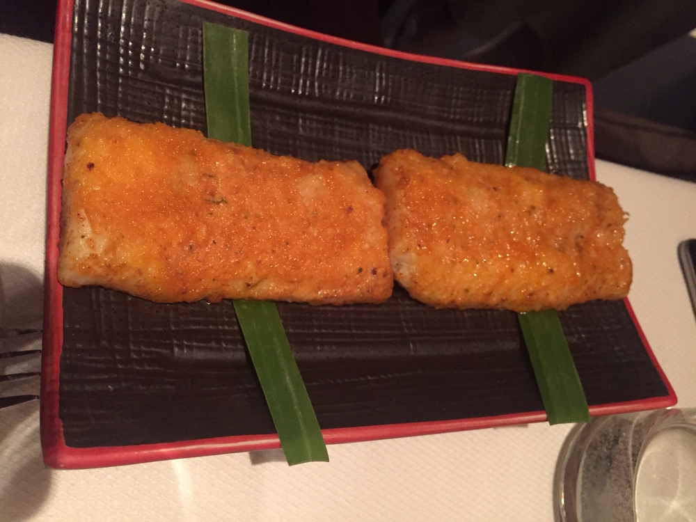 Baked Fish, Amritsari Masala Butter, White Bait Papad