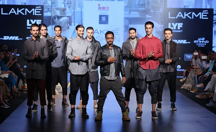 Designer Vaibhav Singh with models