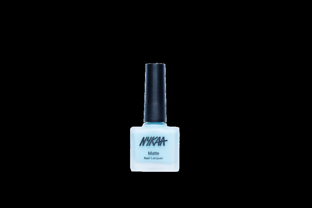 Nykaa Matte Nail Enamel - Cool Blue Granita