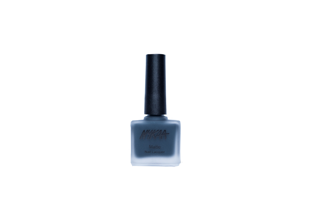 Nykaa Matte Nail Enamel - Squid Ink Mousse