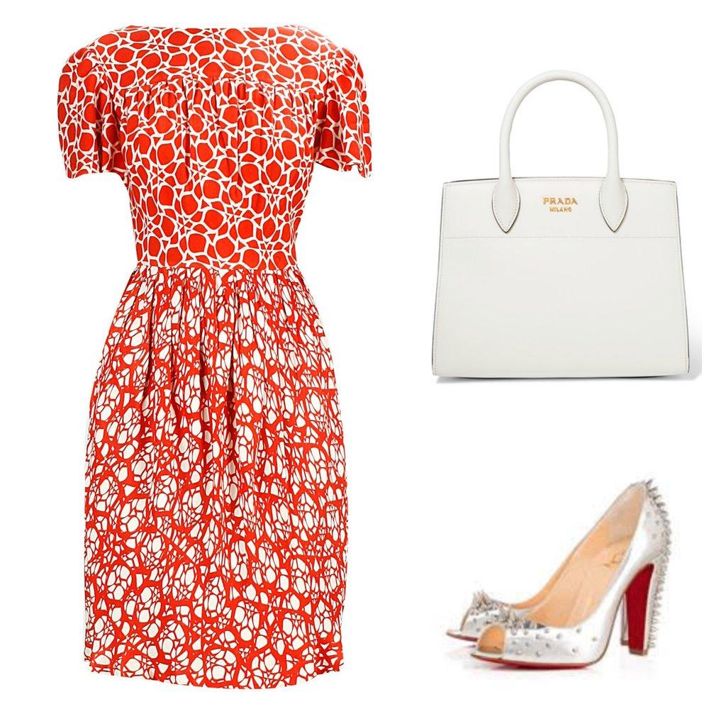 Dress: Ashish N Soni; Bag: Prada (Net-A-Porter), Shoes: Louboutin