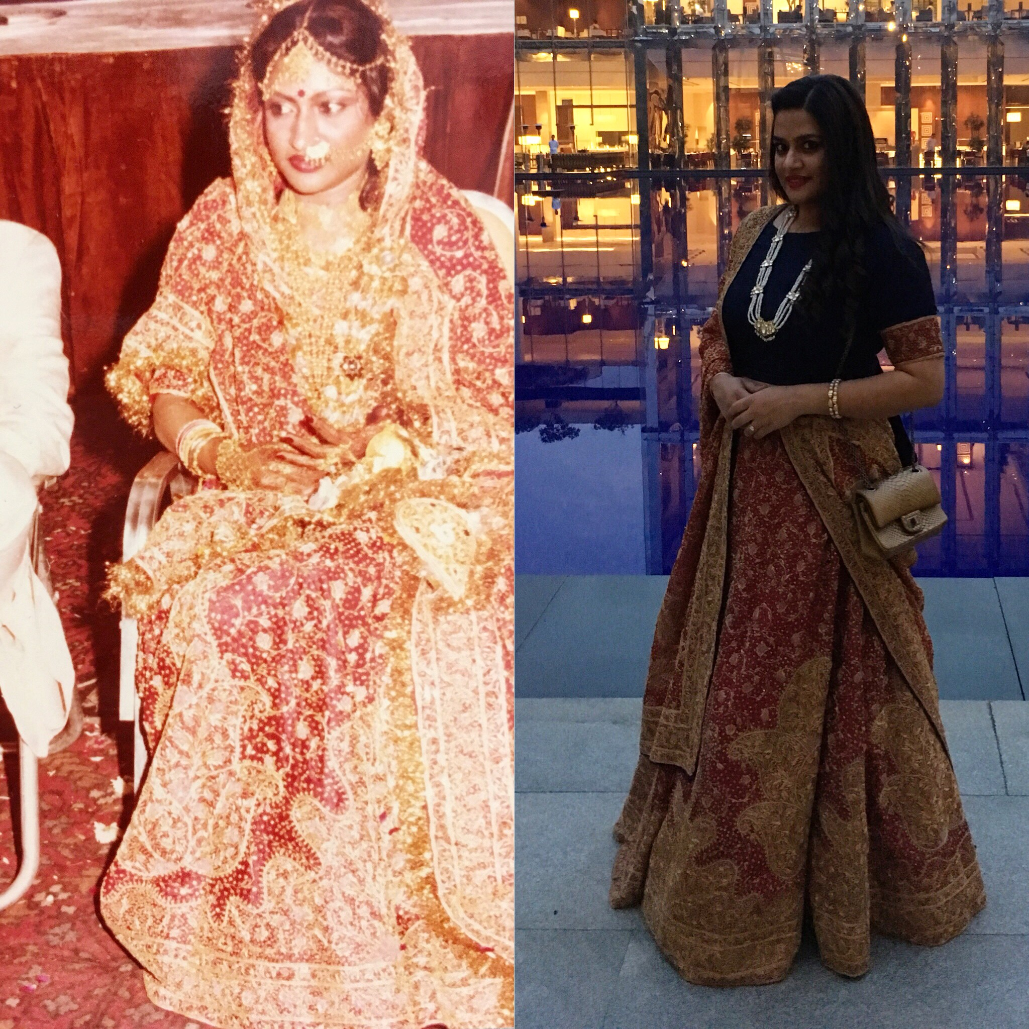 b1a7cd70e2 How to wear your mom's wedding lehenga? — The Purple Window