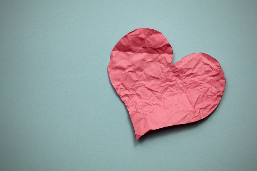 iStock_000016159098Small crumpled paper heart