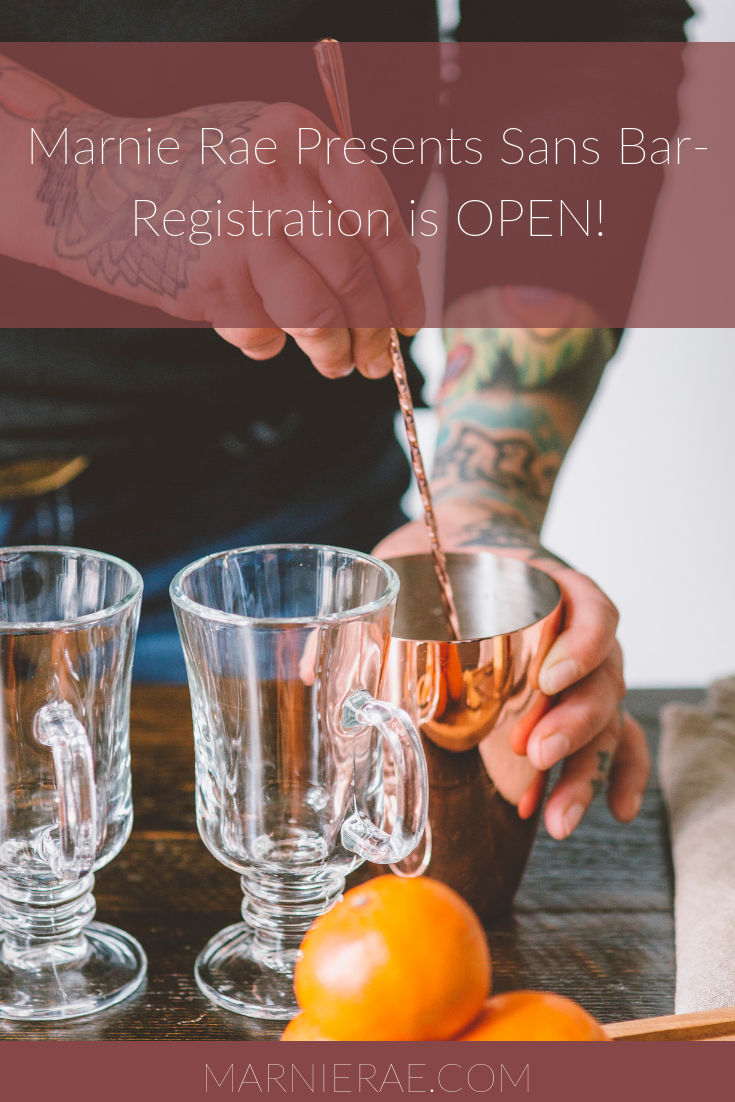 Marnie Rae Presents Sans Bar - Registration is OPEN!