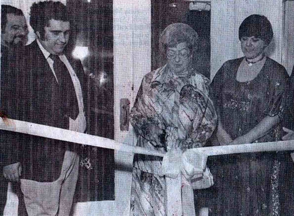 The Country Gate Playhouse's ribbon cutting ceremony. (1978)