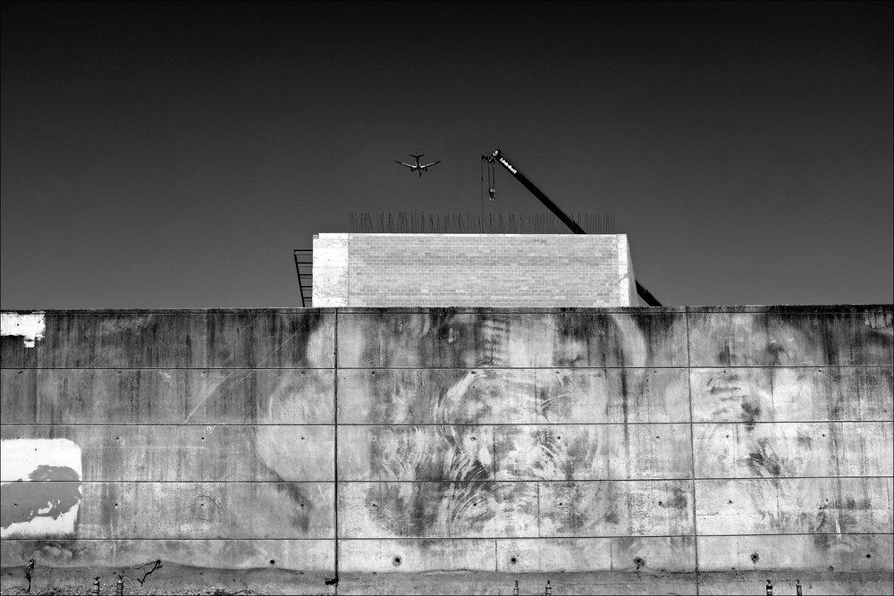 Wall, Crane, Plane