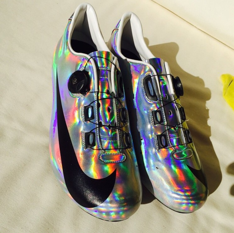 "Deion Sanders said ""Look good feel good, feel good play good, play good they pay good."" he was on to something. These shoes light up the room like Neon Deions suits did. Credit: Adam Blythe on Instagram"