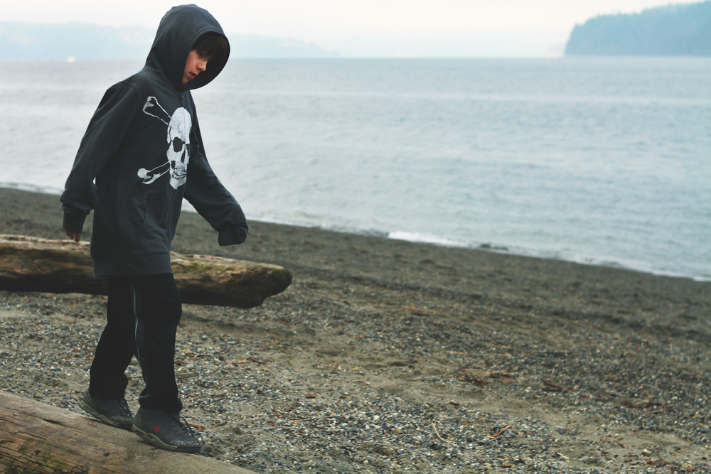 My oldest at Owen Beach, Washington in January 2013 by Jenny Ryan of Amiabelle