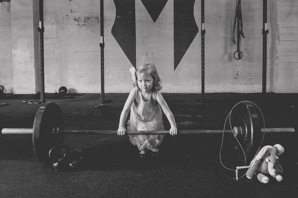 World domination takes training! Good thing her mommy is a Crossfitter. ;)