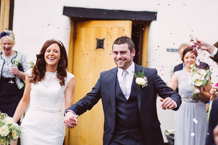 wedding confetti at muddifords country house