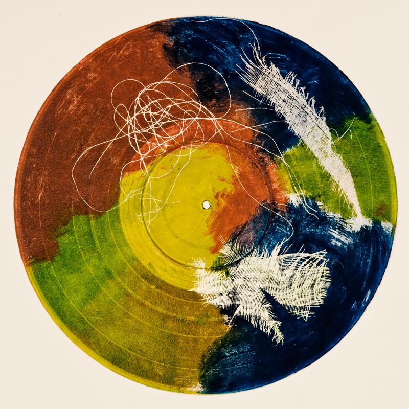 "Untitled Monoprint | 12x12"""