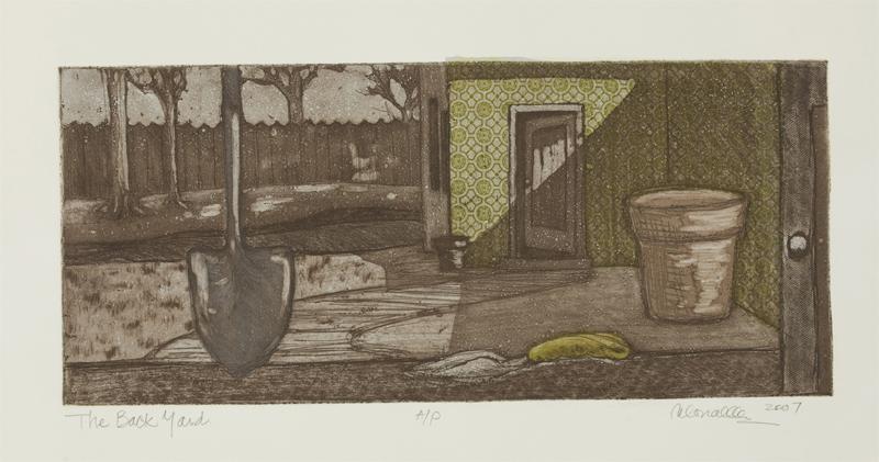 "My Backyard Etching & Aquatint | 18x8"""